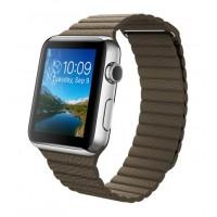 Apple Watch (Кожанный коричневый ремешок 42 мм)